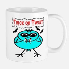 Trick or Tweet Vampire Bird & Bats Mug