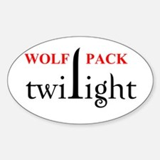 Twilight Wolf Pack Oval Decal