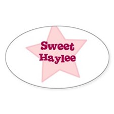 Sweet Haylee Oval Decal
