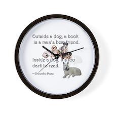 Outside a Dog Wall Clock