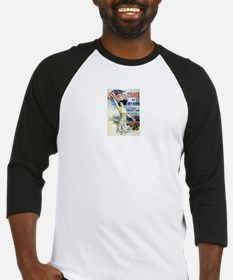 Vintage WWII Poster Baseball Jersey
