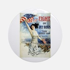Vintage WWII Poster Ornament (Round)