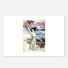 Vintage WWII Poster Postcards (Package of 8)