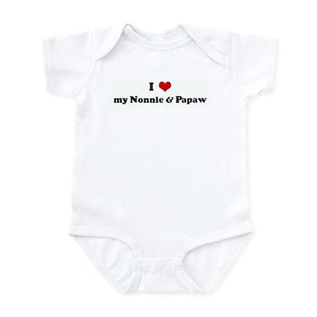 I Love my Nonnie & Papaw Infant Bodysuit