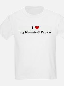 I Love my Nonnie & Papaw T-Shirt