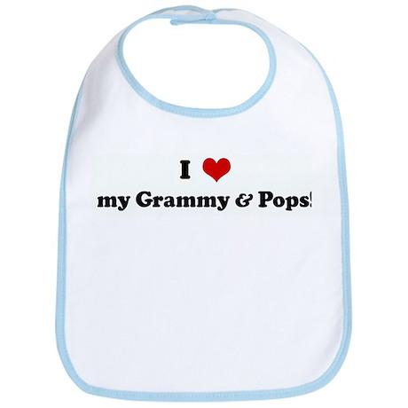 I Love my Grammy & Pops! Bib
