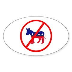 Anti Democrat Oval Sticker (50 pk)