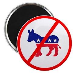 """Anti Democrat 2.25"""" Magnet (100 pack)"""