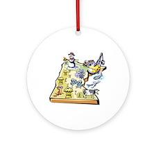 Minnesota Map Ornament (Round)