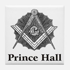 Prince Hall Square and Compass Tile Coaster
