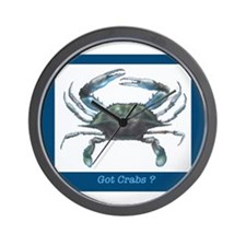 Funny Blue crab crabs size Wall Clock
