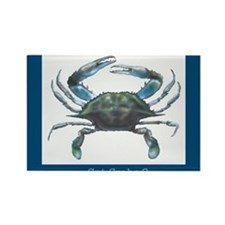 Cute Blue crab Rectangle Magnet