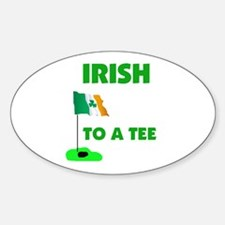 IRISH UP TO PAR Oval Decal