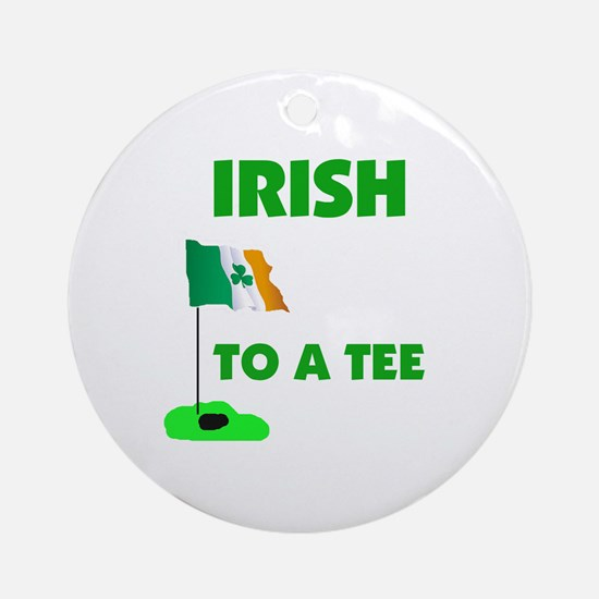 IRISH UP TO PAR Ornament (Round)