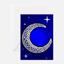 Blank Celtic Moon Card