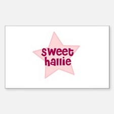Sweet Hallie Rectangle Decal