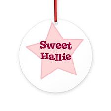 Sweet Hallie Ornament (Round)