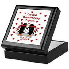 1st Valentine's Together Penguins Keepsake Box
