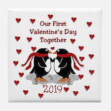 1st Valentine's Together Tile Coaster