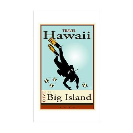 Travel Hawaii Rectangle Sticker