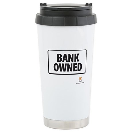 BANK OWNED - Stainless Steel Travel Mug