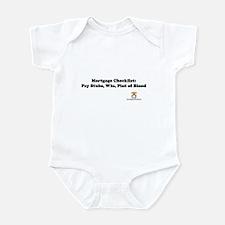 Mortgage Checklist...Blood Infant Bodysuit