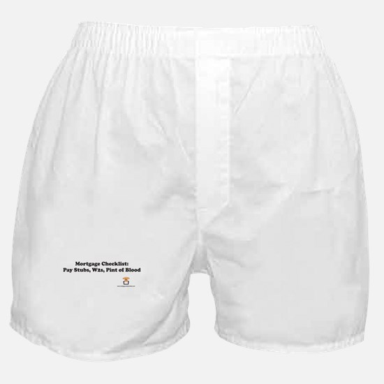 Mortgage Checklist...Blood Boxer Shorts