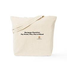 Mortgage Checklist...Blood Tote Bag