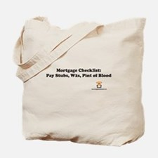 Mortgage Checklist...Blood Tote Bag