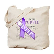 I Wear Purple for My Sister Tote Bag