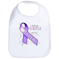 I Wear Purple for My Sister Bib