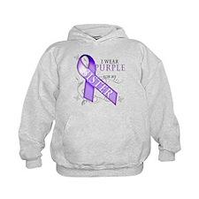 I Wear Purple for My Sister Hoodie