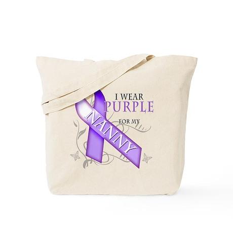 I Wear Purple for My Nanny Tote Bag