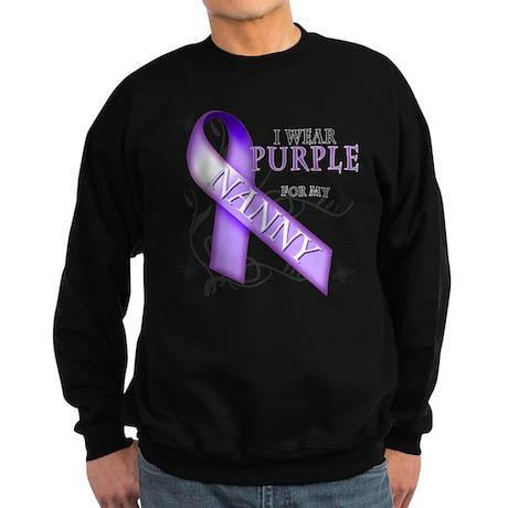 I Wear Purple for My Nanny Sweatshirt (dark)