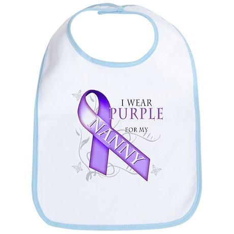 I Wear Purple for My Nanny Bib