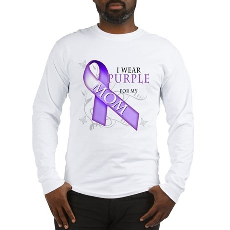 I Wear Purple for My Mom Long Sleeve T-Shirt