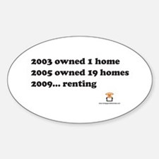 2003 2005 2009..RENTING - Oval Decal