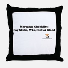 Mortgage Checklist...Blood Throw Pillow