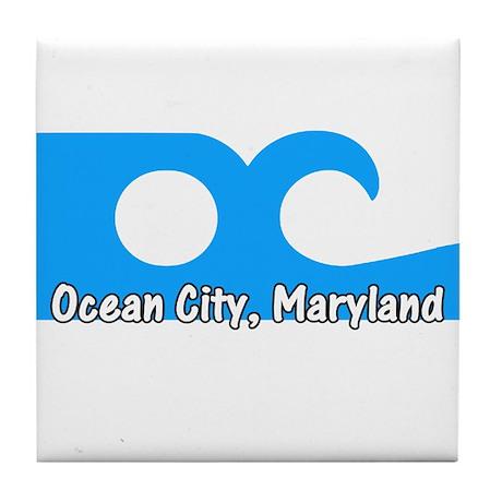Ocean City Flag Tile Coaster