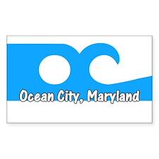 Ocean City Flag Rectangle Decal