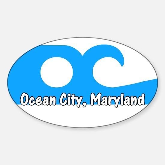 Ocean City Flag Oval Decal