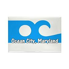 Ocean City Flag Rectangle Magnet