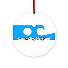 Ocean City Flag Ornament (Round)