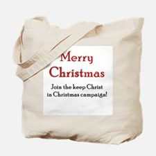 Merry Christmas Campaign Tote Bag
