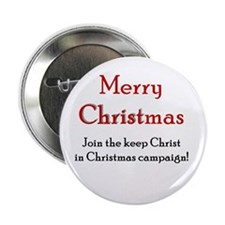 Merry Christmas Campaign Button