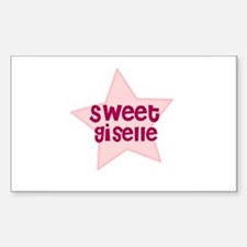 Sweet Giselle Rectangle Decal