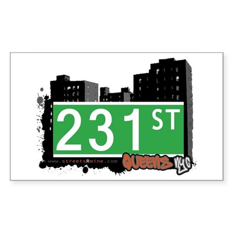 231 STREET, QUEENS, NYC Rectangle Sticker 10 pk)