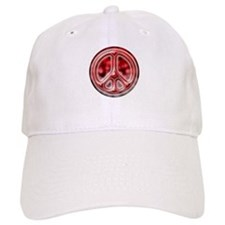 Red faded cracked Baseball Cap