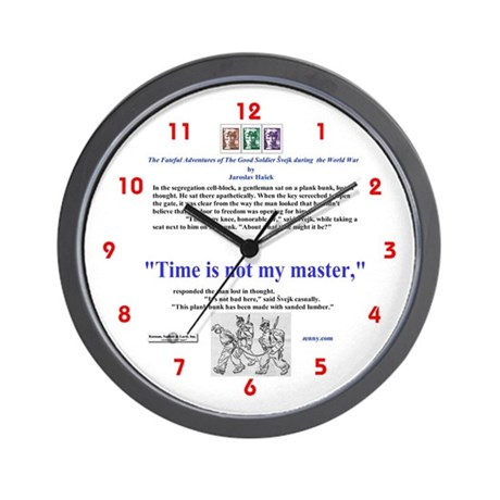 """Time is not my master"" Small Wall Clock"