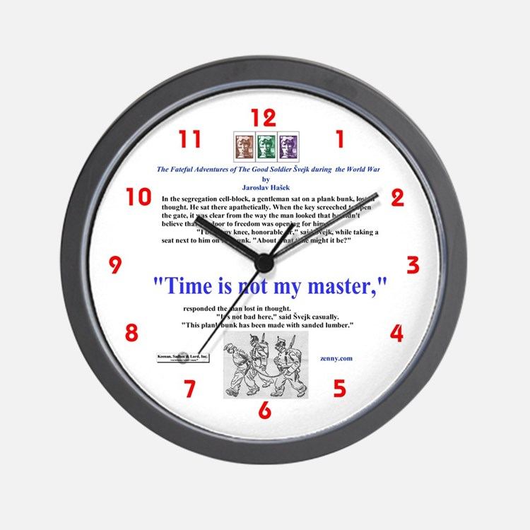 """""""Time is not my master"""" Small Wall Clock"""
